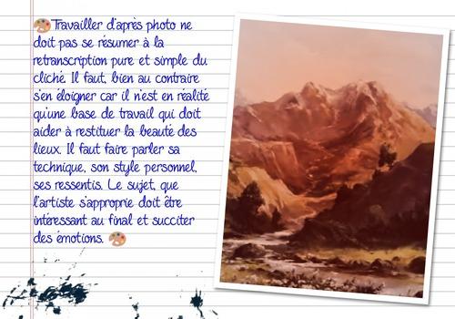 Dessin et peinture - vidéo 3273 : Comment peindre un paysage à partir d'une photo 1/2 ? - toutes les techniques.