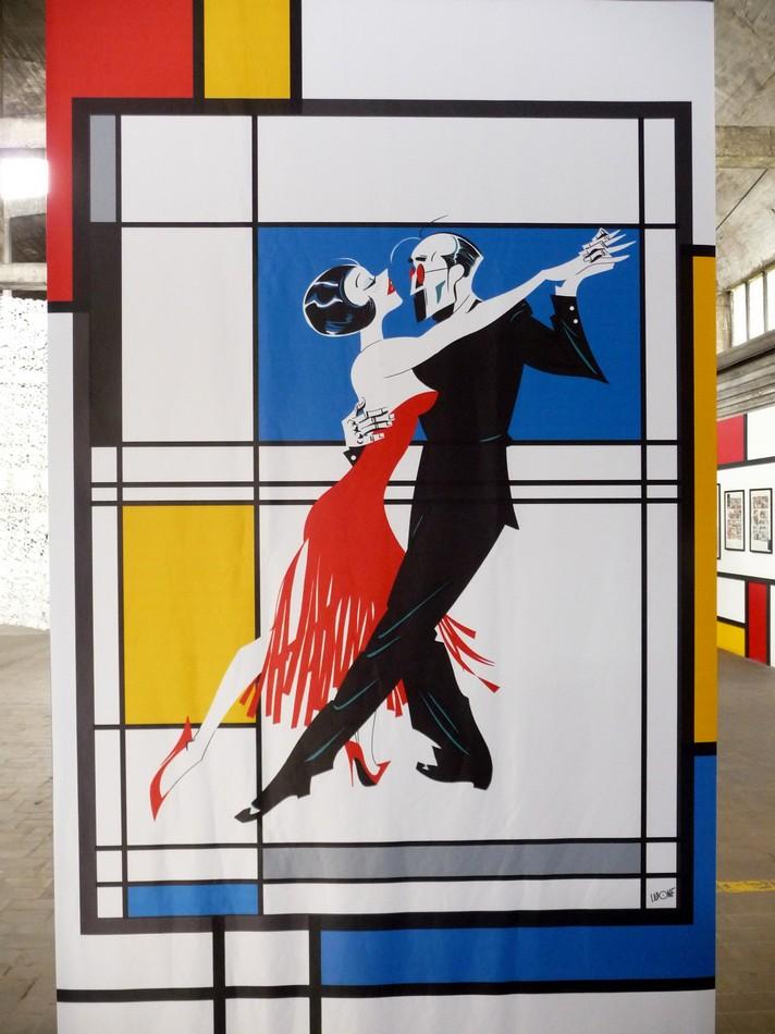 Au Festival de la BD, Mondrian