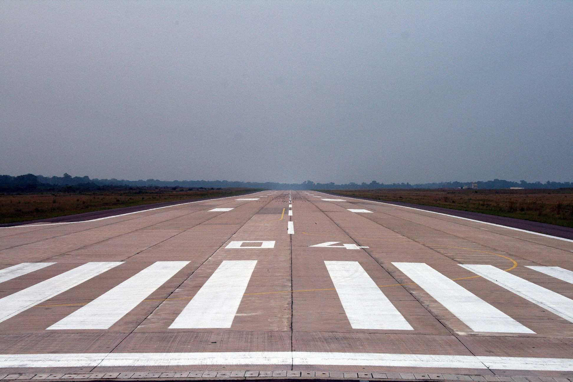 Aire de décollage exemplaire.