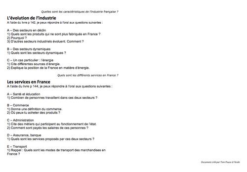 Questionnaire en Géographie (manuel Odyssée CE2 Belin)
