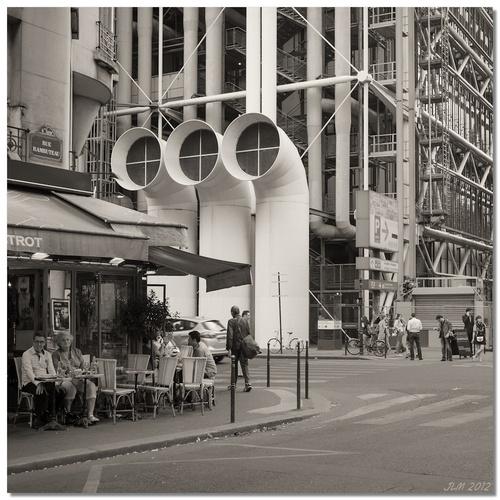 willy ronis, a la manière de, paris, rue rambuteau, fuji x100