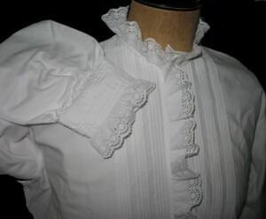 Chemise de nuit en finette blanche 3