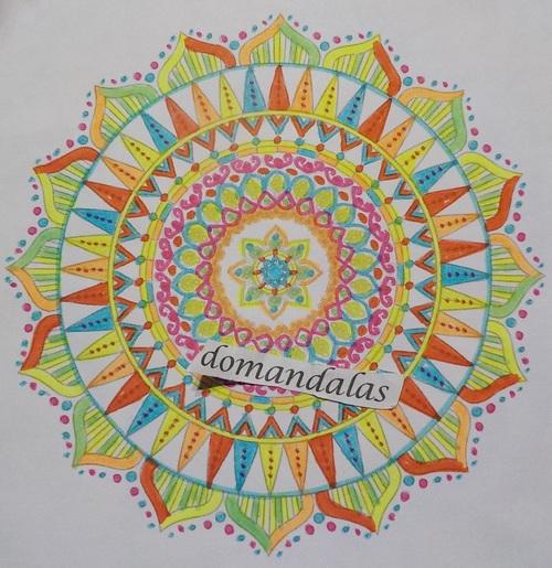 DOMANDALAS  coloriage d'un mandala 2