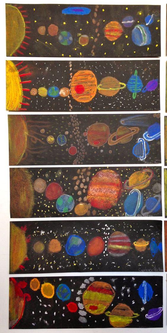 """Idée Pinterest : Productions artistiques """"L'espace"""""""