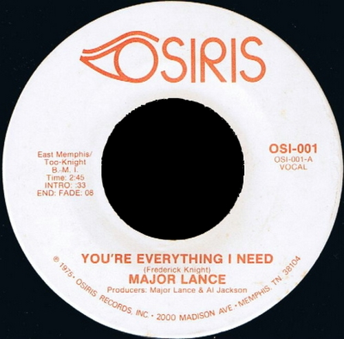 1975 : Single Osiris Records OSI - 001 [ US ]