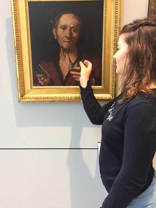 Les élèves au musée des Beaux Arts de Caen