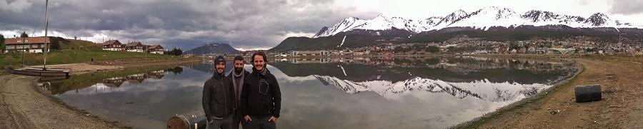 la baya encerrada d'Ushuaia