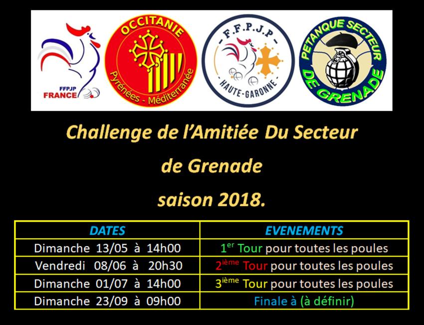 Challenge de l'amitié du Secteur 2018.