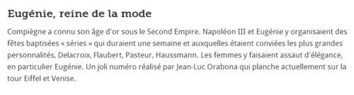 """""COMPIEGNE sous le SECOND EMPIRE  avec  EUGENIE & NAPOLEON III"""""