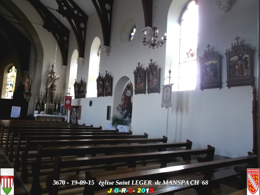 20/09/2015 EGLISE SAINT  LEGER   DE  MANSPACH 68 1/4   D 31/05/2016