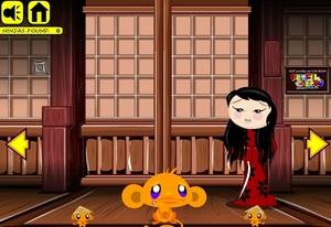 Jouer à Monkey go happy - Ninjas