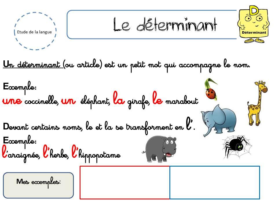 GRAMMAIRE - (page 2) - La classe de Corinne