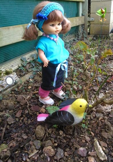 Rosalie encore au jardin