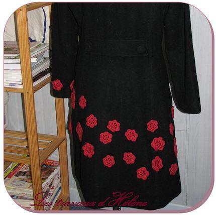 Manteau après customisation vu de dos