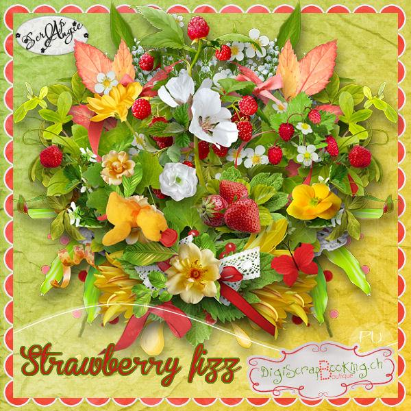 """Strawberry Fizz"" de Scrap'Angie"