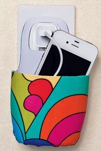 Creative ideas for recycling... perfect for the kitchen so your phone doesn't sit on the counter!