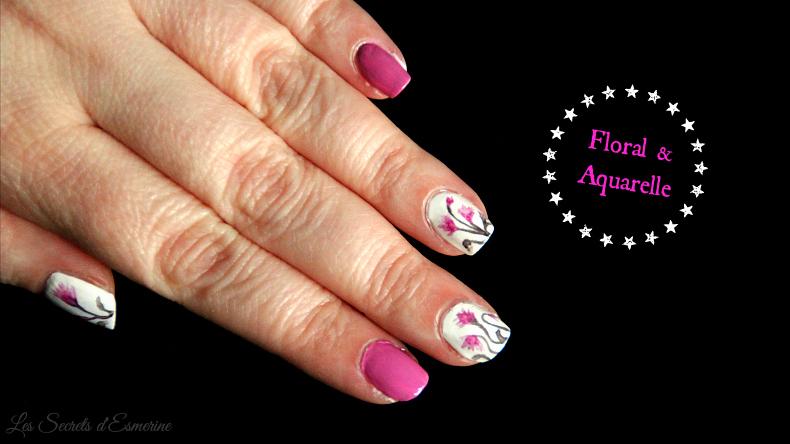 Toute première fois : nail art floral à l'aquarelle