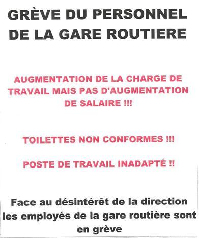 Gare routière de Quimper. Les agents d'accueil en grève (LT.fr-4/10/19-18h36)