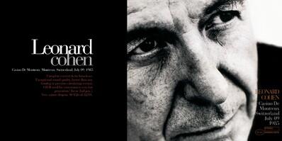Live: Leonard Cohen- Casino de Montreux - 9 juillet 1985