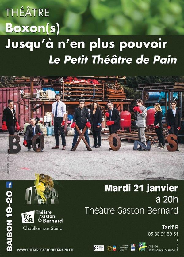 """""""Boxon(s) Jusqu'à n'en plus pouvoir"""" par le Petit Théâtre du Pain, bientôt au TGB"""