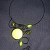collier alu vert/noir