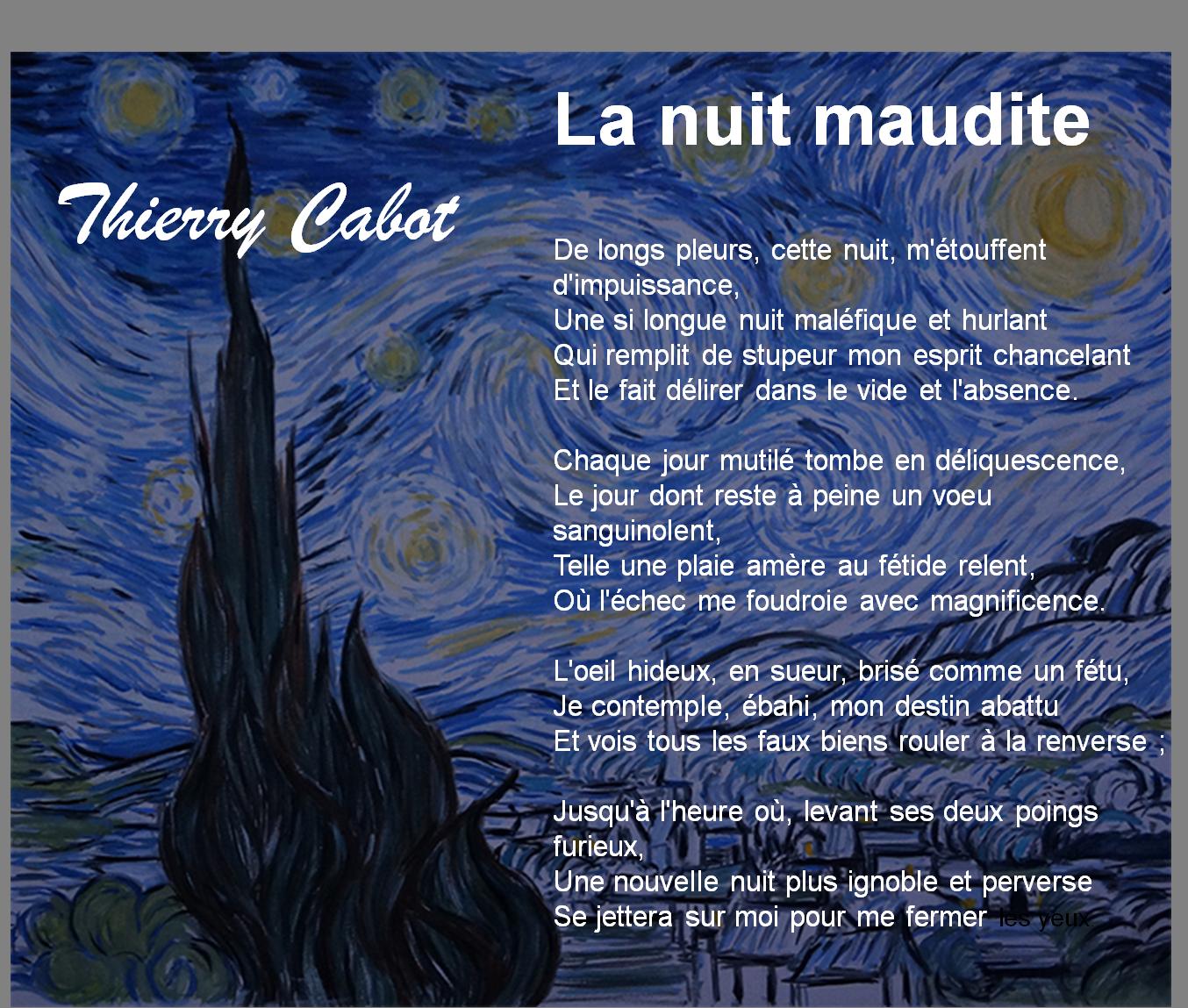La Nuit Maudite Poème Elettra