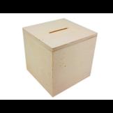 Tirelire en bois 8x8x8cm - tirelire cube à décorer