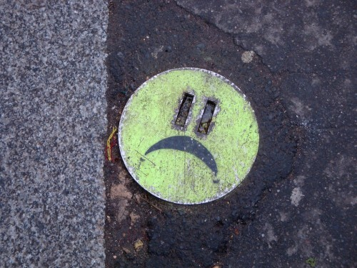 smiley street-art trottoir 3