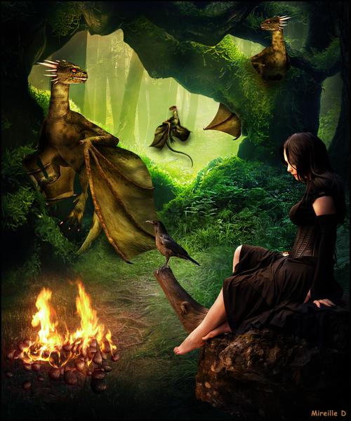 La Tanière des Dragons (Photomontage)