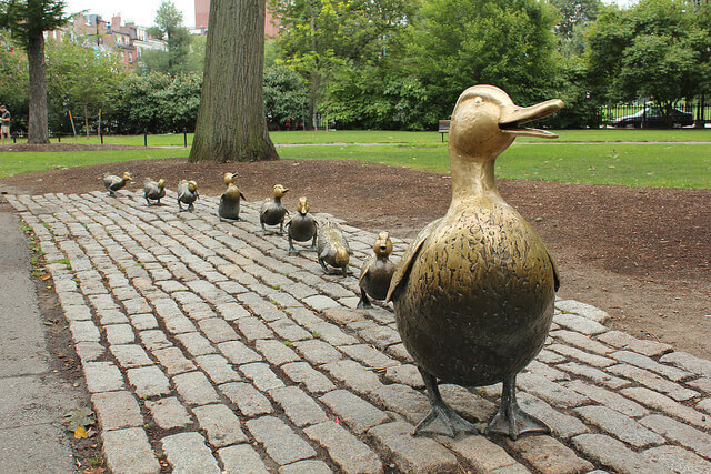 Statue Make Way for Ducklings à Boston