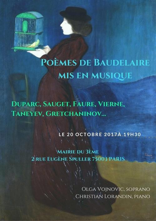 Prochain Concert Vendredi 20 octobre 2017