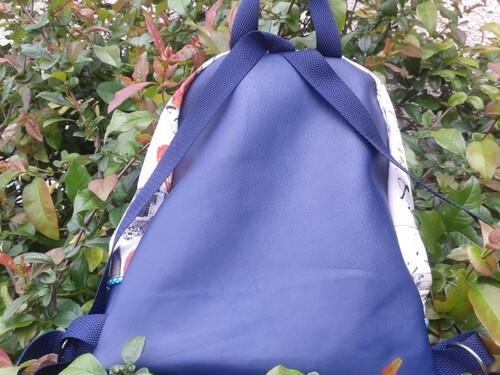"""sac à dos """"papillon bleu"""""""