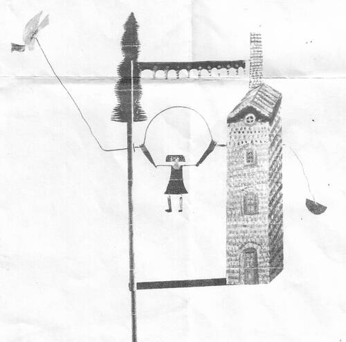 A150 La petite fille qui saute à la corde