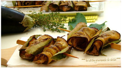 "BROCHETTES DE FILET MIGNON AUX AUBERGINES,""Weight Watchers"""