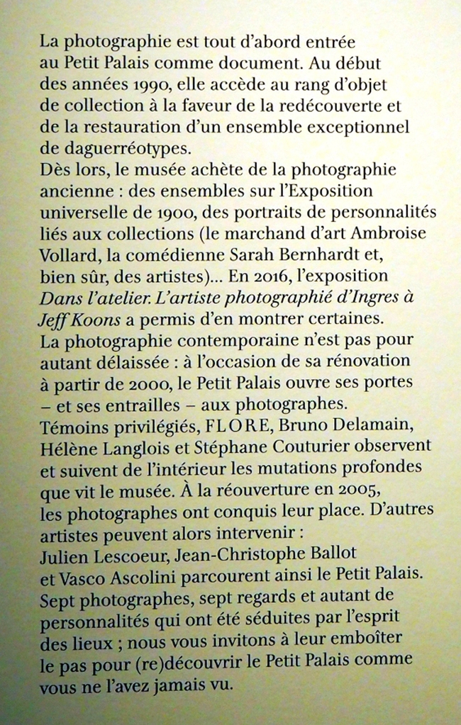 Expositions Photos au Petit Palais. Paris