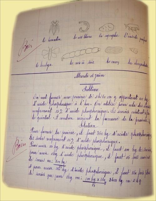 Cahiers d'écoliers années 1931 - 1934