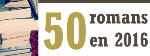 Challenge n°1 : 50 romans en 2016