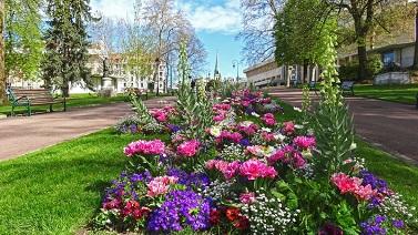 Une ville au printemps ...