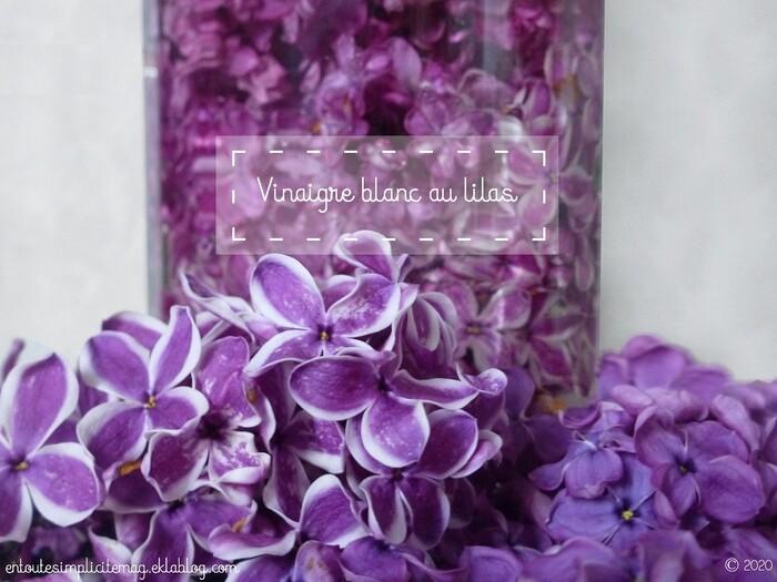 Le vinaigre blanc parfumé au lilas [DIY]