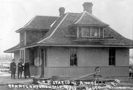 La gare d'Amos, en 1918