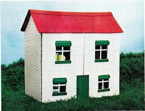 La maison de poupée en carton ondulé
