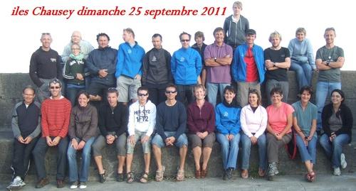 Sortie kayak de mer aux iles Chausey - dimanche 25 septembre 2011