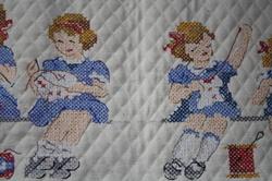 Leçon de tricot et couture.