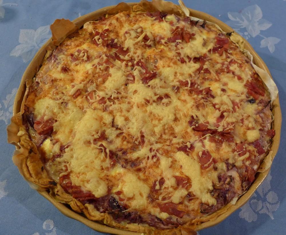 La tarte aux oignons et jambon de Manou...
