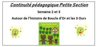 Continuité pédagogique Maternelle Petite section