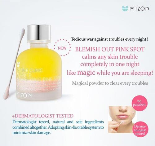 Trouble Clinic Acence Blemish Out Pink Spot mizon, acne, boutons