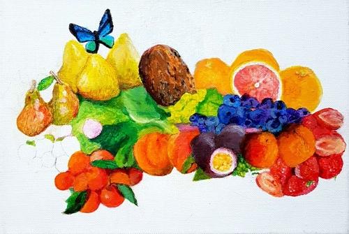Fruits et papillon, pas à pas 6