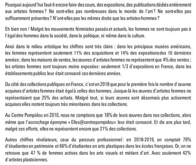 """Le Mooc """"Elles font l'art"""" du Centre Pompidou"""