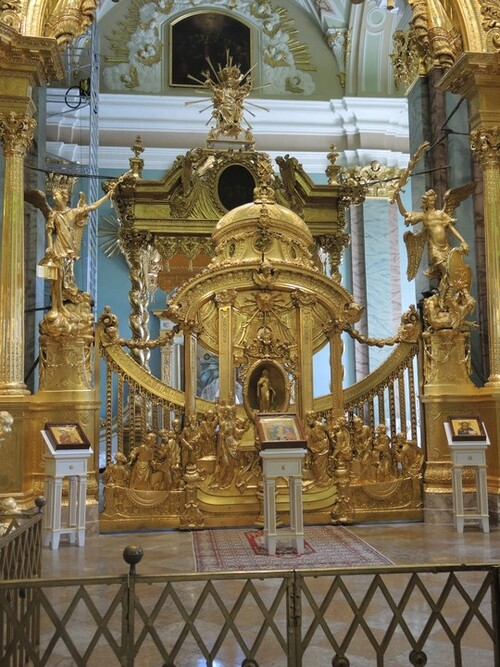 Croisière Russie- N°2- St Petersbourg- jour 1 - La forteresse Pierre et Paul- La cathédrale
