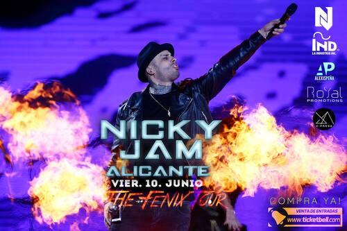 NICKY JAM EN CONCERT VENDREDI 10 JUIN 2016 A ALICANTE ESPAGNE